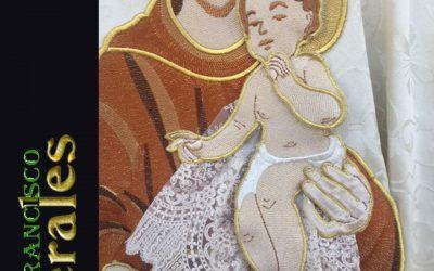 Niño bordado de San Antonio