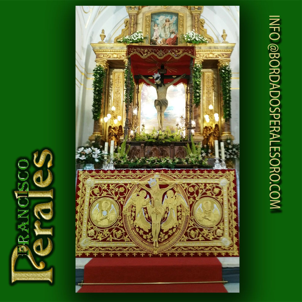Frontal de altar bordado