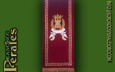 Ambon bordado con escudo de Almanzora, Castellon