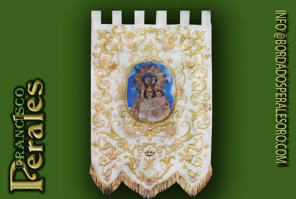 Estandarte bordado de la Virgen de Gracia de Corral de Almaguer, Toledo