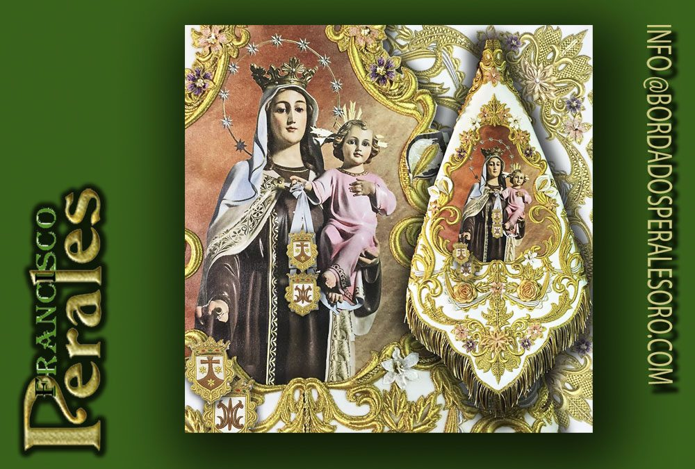 Banderín bordado para Virgen del Carmen