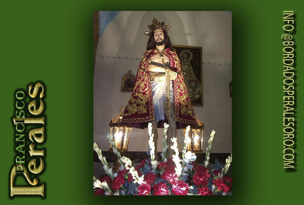 Capa bordada Cristo de la Humildad.