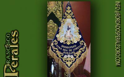 Banderin bordado para la Virgen de Loreto