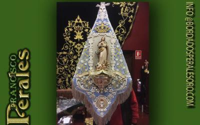 Banderín bordado de Inmaculada Concepción