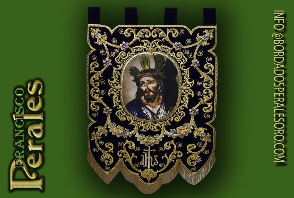 Estandarte bordado Ntro. Padre Jesús con la Cruz acuestas