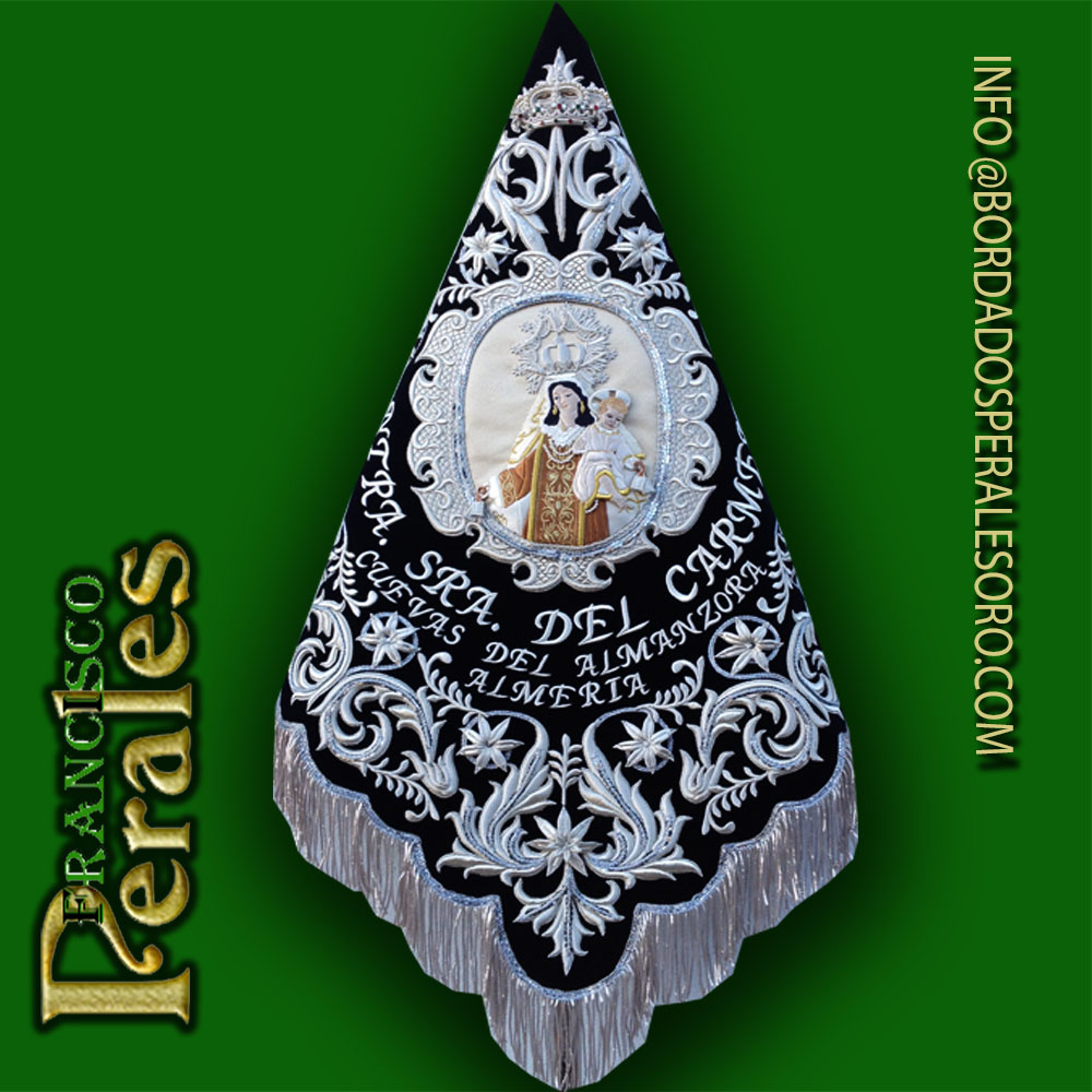 Banderín de la Virgen del Carmen.