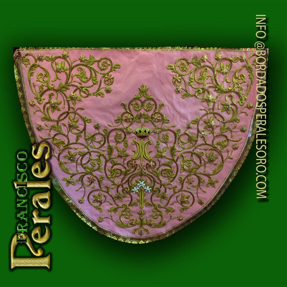 Manto rosa Virgen de la Virtudes