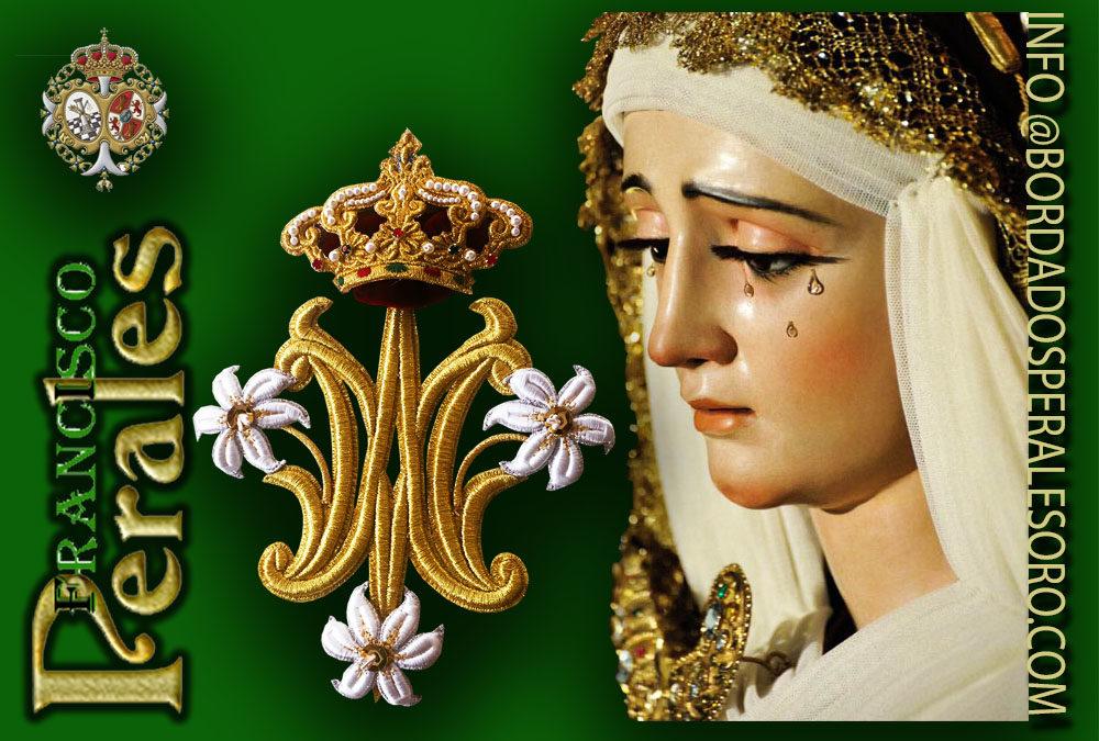 El traslado a la Catedral de La Virgen de la Victoria de las Cigarreras,bordados en aplicación dorada