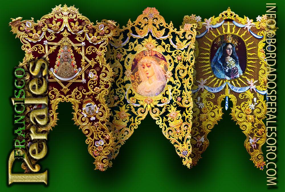 Simpecados bordados a mano Almería
