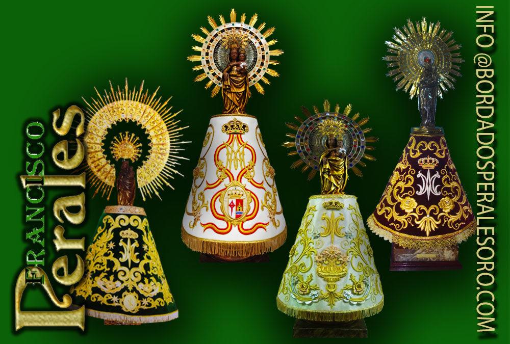 12 de octubre Virgen del Pilar, mantos bordados en oro Soria.