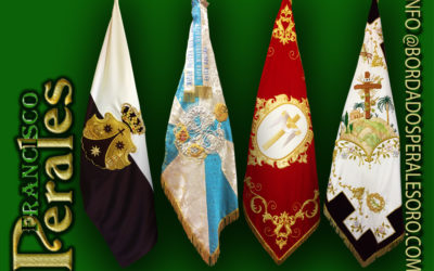 BANDERAS BORDADAS