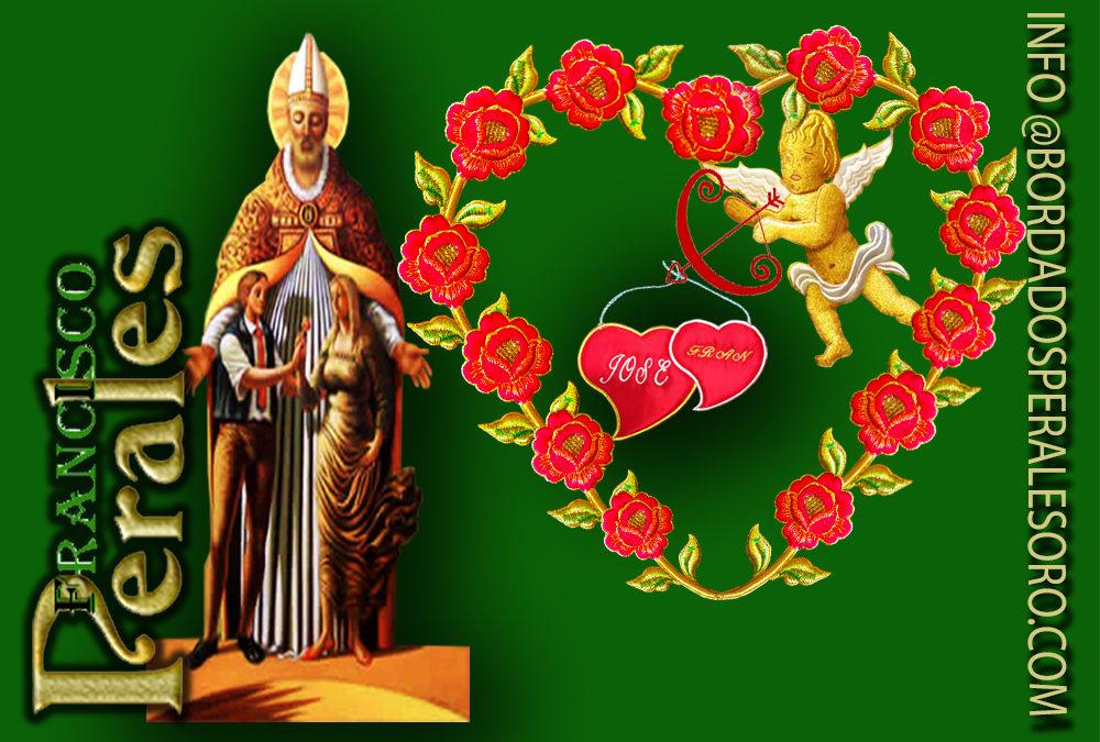 Día de San Valentín bordados a mano Cantabria.