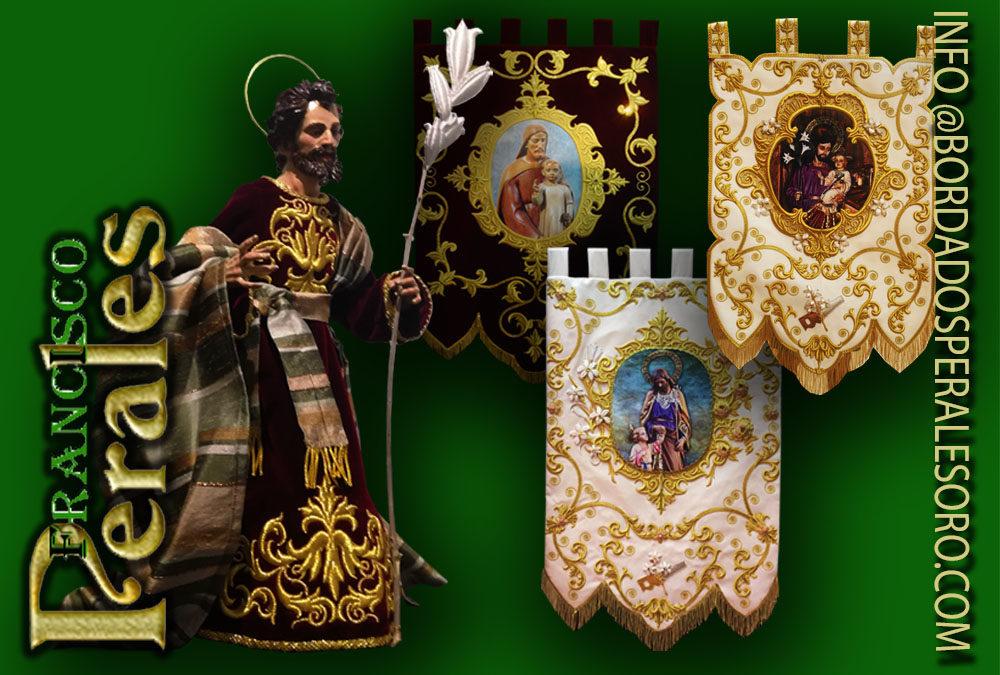 Bordados en oro para San José en Zaragoza.