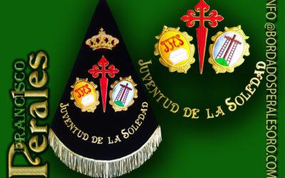 Llerena de Badajoz banderín para el grupo Joven de la Hermandad de Nuestra Señora de la soledad.