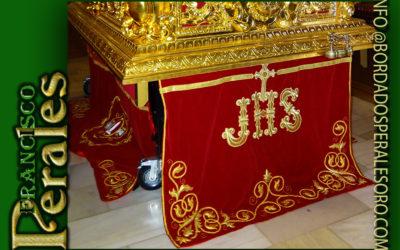 Faldón para Hermandad y Cofradía de Nazarenos del Santísimo Cristo Atado a la Columnade Alcalá de Henares.