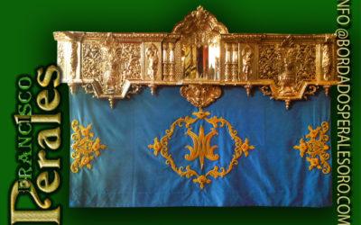 Faldón para Hermandad de la Virgen de la Asunción de Herencia en Ciudad Real.
