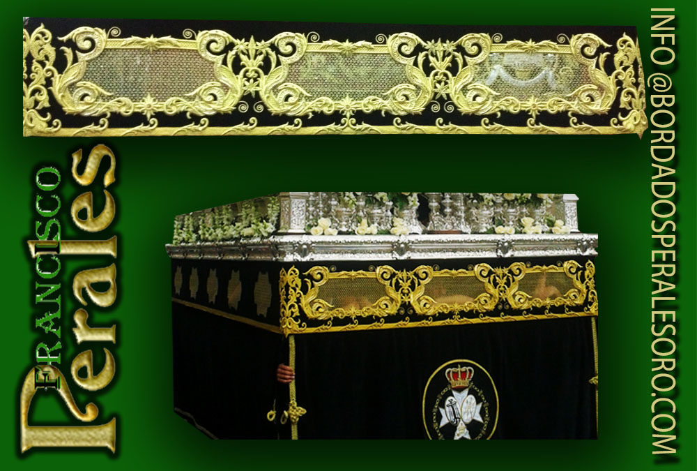 Hermandad de Nuestra Señora de la Soledad de Ciudad Real respiraderos bordados.