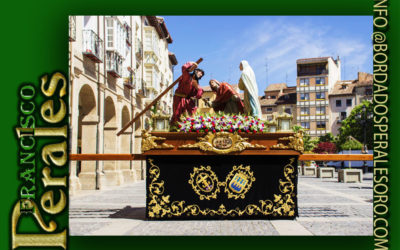 Faldón  para la Hermandad y Cofradía de la Santa Cruz para su paso de El Encuentro de Logroño.