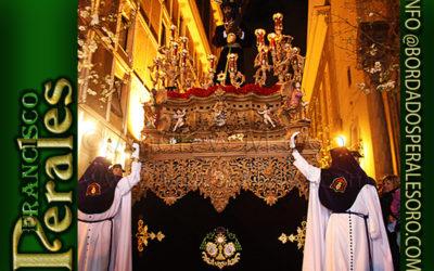 Faldón para la hermandad Sacramental y Carmelitana de los Gitanos de Madrid.