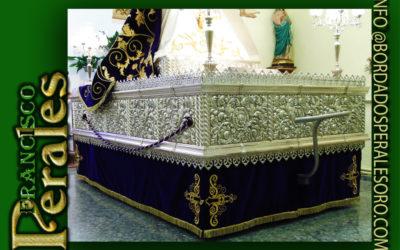 Faldón la Hermandad de la Santísima Virgen de las Angustias patrona de Mejorada del Campo en Madrid.