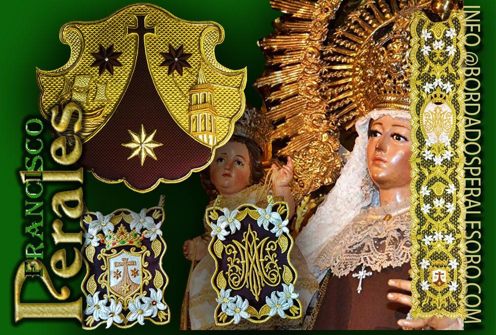 Bordados a mano para la Virgen del Carmen en Málaga.