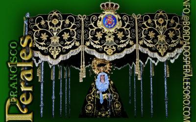 Palio bordado para la Hermandad Nuestra Señora de la Soledad de Almagro.