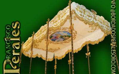 Palio bordado para Nuestra Señora de las Nieves patrona de Almagro en ciudad Real.