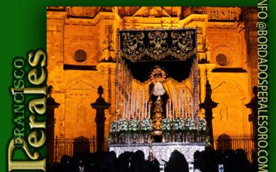 Palio bordado para la Hermandad de Nuestro Padre Jesús Nazareno y Ntra. Sra. De la Soledad de Astorga.