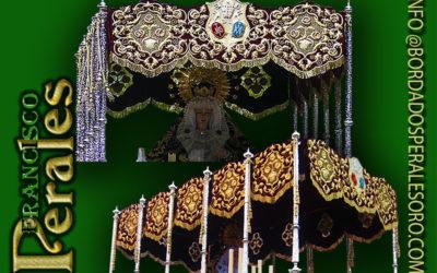Palio bordado para la Hermandad Nuestra Señora de laSoledad de Barajas en Madrid.