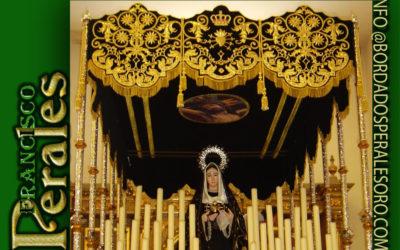 Palio bordado para la Hermandad Nuestra Señora de la Soledad de Casasimarro en Cuenca.