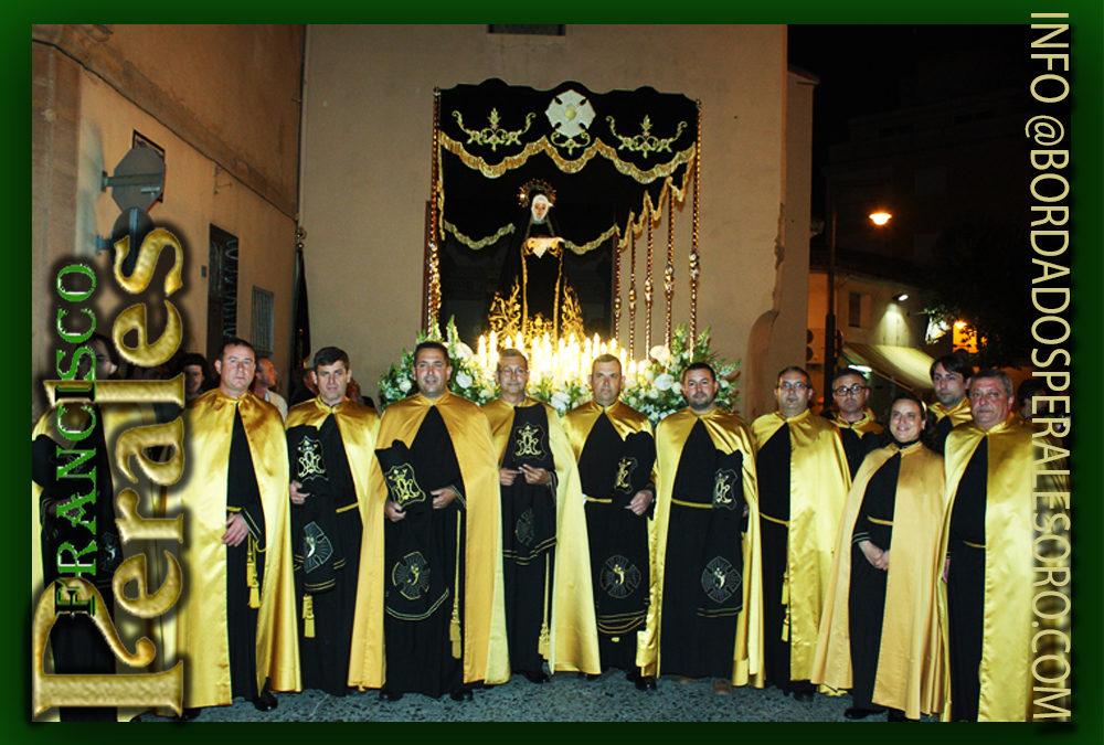 Palio bordado para la Hermandad Nuestra Señora De la Soledad en La Alcudia.