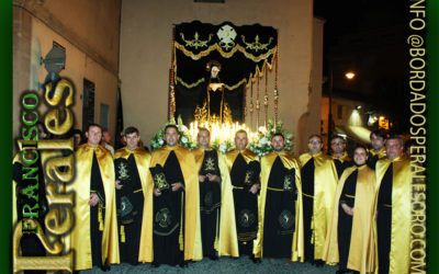 Palio bordado para la Hermandad Nuestra Señora De la Soledad.