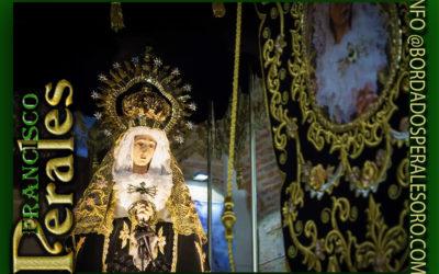 Palio bordado para la Virgen de Los Dolores de Agudo en Ciudad Real.