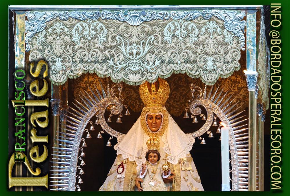 Restauración y limpieza del palio la Ilustre Hermandad de la Virgen del Prado de Ciudad Real.