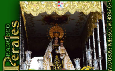Techo de palio bordado para para la Virgen del Carmen de Pozuelo de Calatrava.