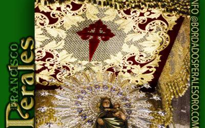 Techo de palio bordado para la Virgen del Pilar de Torralba de Calatrava en Ciudad Real.