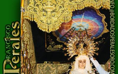 Techo de palio bordado para la Virgen de los Dolores en Valencia,