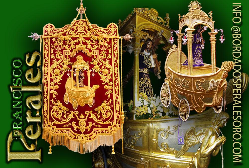 Estandarte bordado para la Real Archicofradía del Cristo de la Vera Cruz de Urda en Toledo.