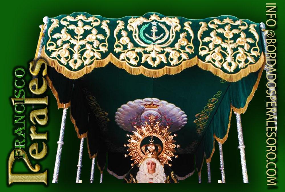 Techo de palio bordado para la Hermandad de la Entrada triunfal de Jesús en Jerusalén y Ntra. Sra. De La Esperanza de Consuegra en la provincia de Toledo.