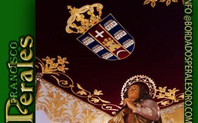 Techo de palio bordado para la Patrona de Poblete en Ciudad Real.