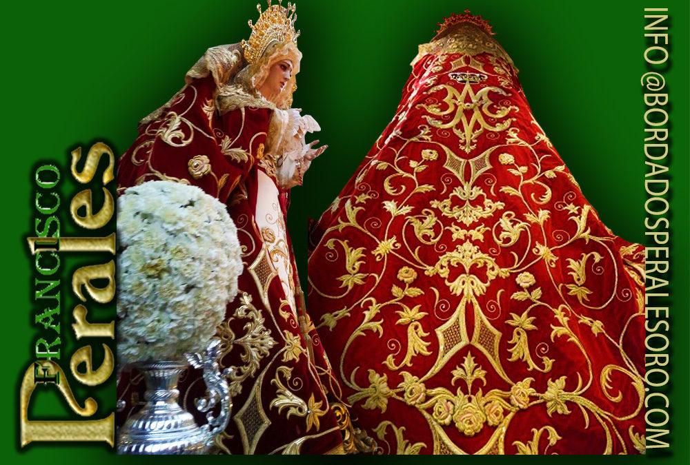 Manto bordado para María Santísima de las Lágrimas y del Consuelo de Alcalá de Henares en Madrid.