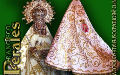 Manto bordado para Nuestra Señora de Cortes de Alcaraz en Albacete.
