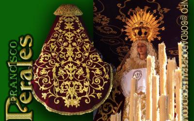 Manto bordado para Nuestra Señora de los Dolores de Aldea del Rey.