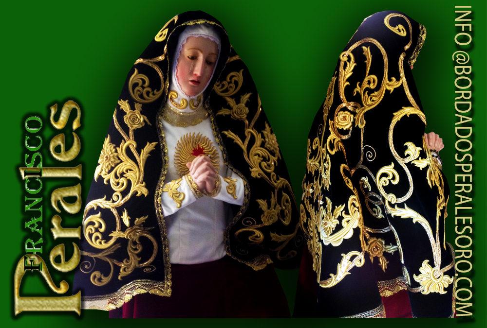 Manto bordado para en busto de la Virgen de la Soledad de Arganda del Rey.