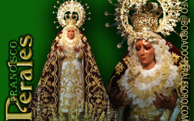 Manto bordado para Nuestra Señora de Gracia y Esperanza de Baeza.