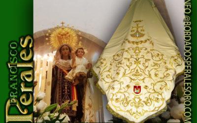 Manto bordado para Nuestra Señora Virgen del Carmen de Baeza.