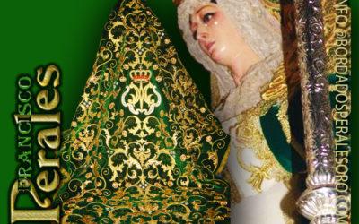 Manto bordado  para Nuestra Señora de la Esperanza de Barajas en Madrid.