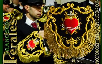 Mantolín bordado para la banda de CCTT Sagrado Corazón de Sorbas en Almería.
