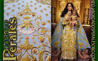 Manto bordado para Nuestra Señora del Remolino Coronada, Patrona de El Molar.