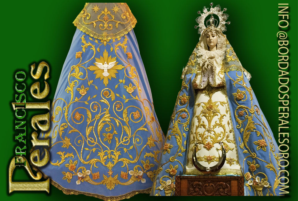 Manto bordado para la Hermandad de la Purísima Concepción de Novés.